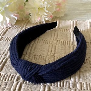 ASHLEY SUNSHINE Navy Blue Knotted Headband